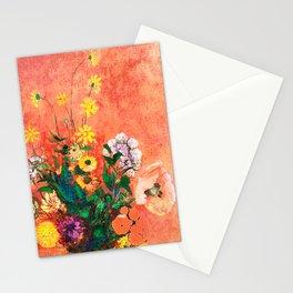 Vase of Summer - flower power Stationery Cards