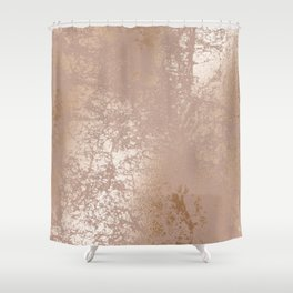 Blush Pink Textured Design with Imploded Effect Shower Curtain