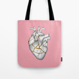 kintsukuroi Heart Tote Bag