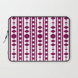 Marsala Tribal Pattern Laptop Sleeve