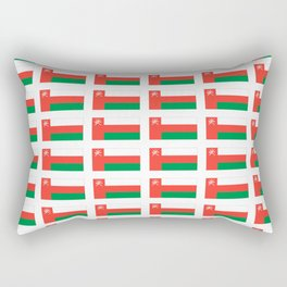 flag of oman ,عمان ,omani,Suwayq,muscat,dishdaska. Rectangular Pillow