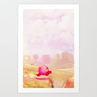 kirby Art Prints featuring KIRBY by Ylenia Pizzetti