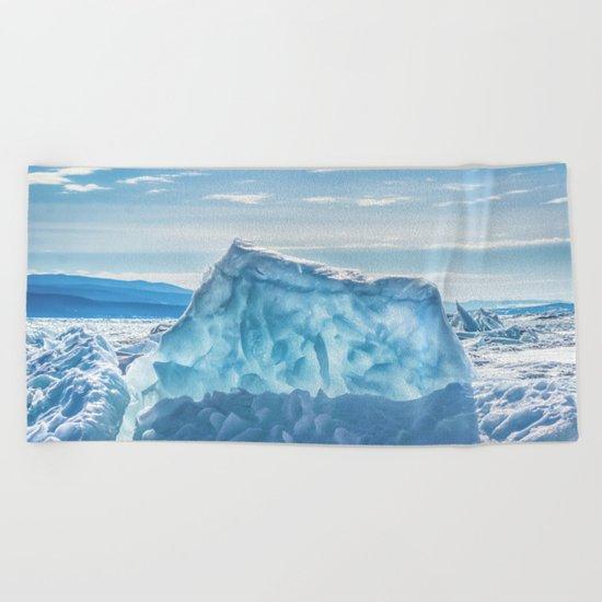 Pressure ridge of lake Baikal Beach Towel