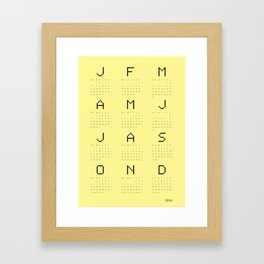 Yellow calendar 2014 S Framed Art Print