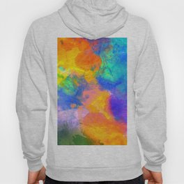Spilt Rainbow - Abstract, watercolour art / watercolor painting Hoody