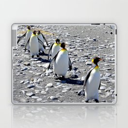 King Penguins returning to the colony Laptop & iPad Skin