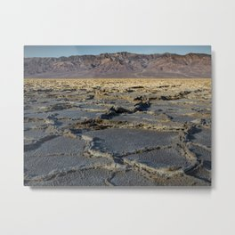Rugged Textures of Badwater Basin in Death Valley Metal Print