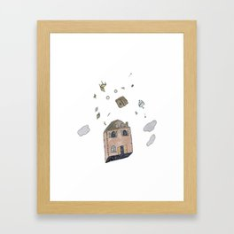Down Can Look Like Up Framed Art Print