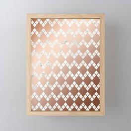 Copper & Marble 03 Framed Mini Art Print