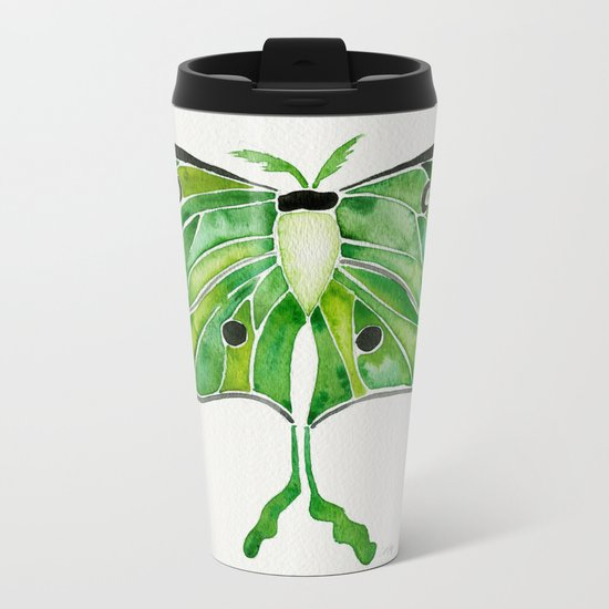 Luna Moth Metal Travel Mug