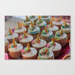 Unicorn Cupcakes Canvas Print