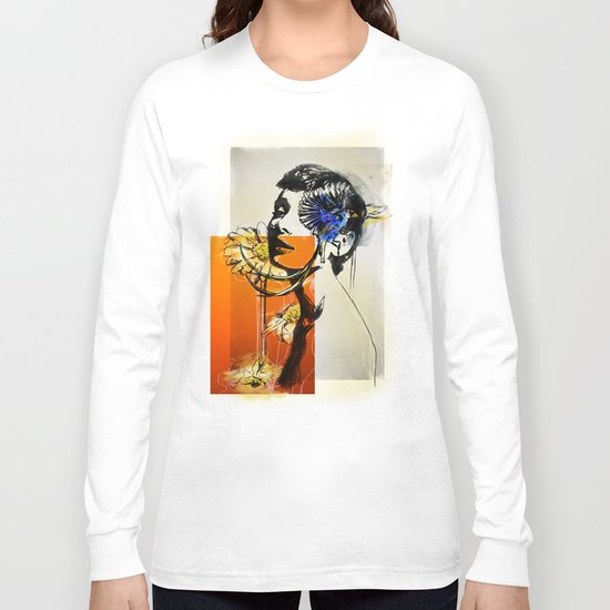Audrey with marguerite Long Sleeve T-shirt