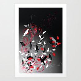Nature in sihlouette Art Print