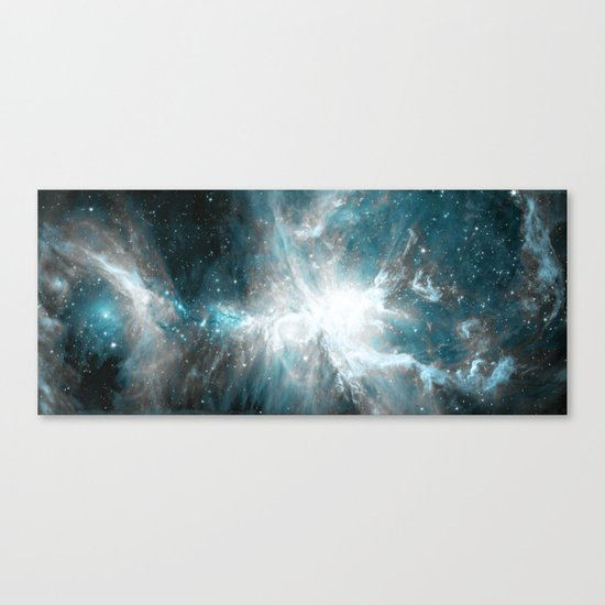 Orion Nebula Teal Gray Galaxy Canvas Print