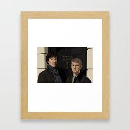 """""""221B"""" Framed Art Print"""