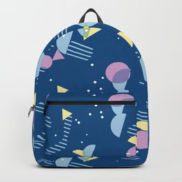Modern Geometric Hip Abstract 50s Art Pattern Backpack