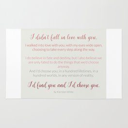 I'd choose you 4 #quotes #love #minimalism Rug