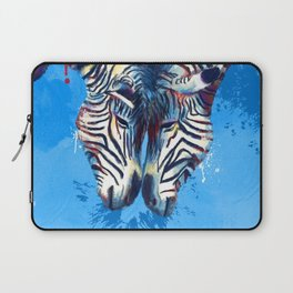 Friendship - Zebra portraits Laptop Sleeve
