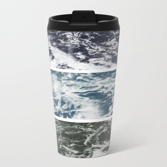 SaltWater Tryptych Variation II Metal Travel Mug