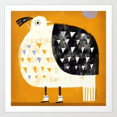 QUAIL WITH BOOTS Art Print