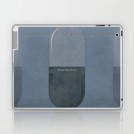 "Aldous Huxley ""Brave New World"" - Minimalist illustration literary design, bookish gift Laptop & iPad Skin"