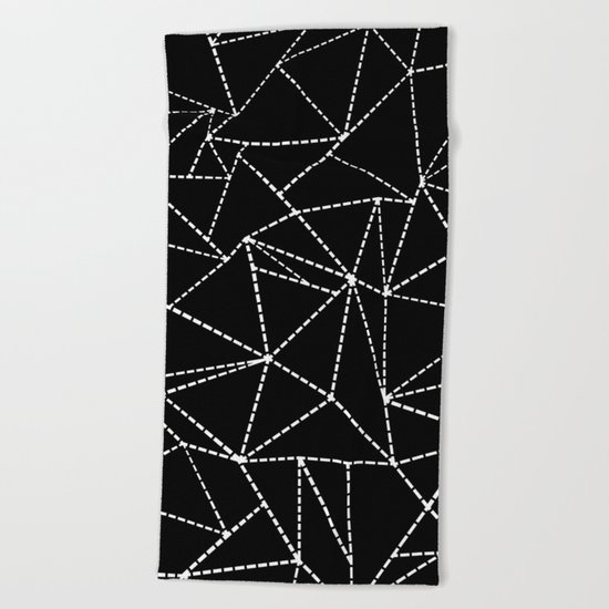 Ab Dotted Lines Beach Towel