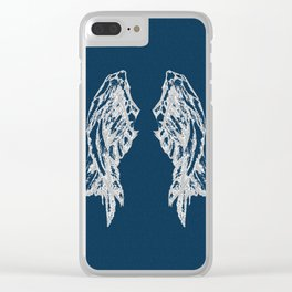 Midnight Flight Clear iPhone Case