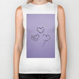 Ultra Violet LOVE Glitter Hearts #1 #shiny #decor #art #society6 Biker Tank