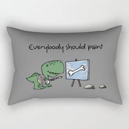 Even Dinosaurs Should Paint Rectangular Pillow