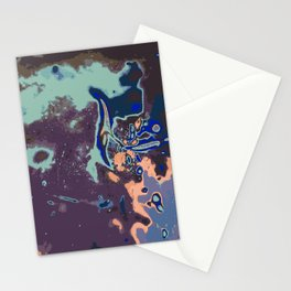 purple blue pink and green abstract background Stationery Cards