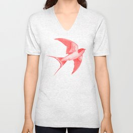 Barn Swallow (red) Unisex V-Neck