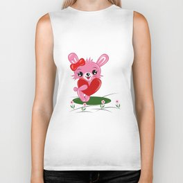 Rabbit Love Biker Tank