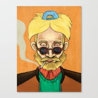 hey arnold Canvas Prints featuring Arnold  by Brian Oscar