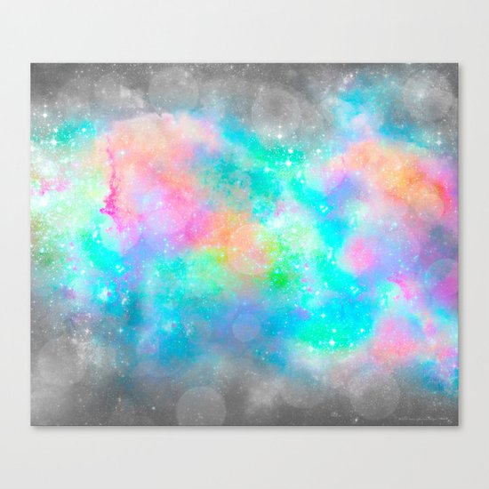 The Soul Becomes Dyed With the Colors of it's Thoughts (Galactic Watercolors) Canvas Print