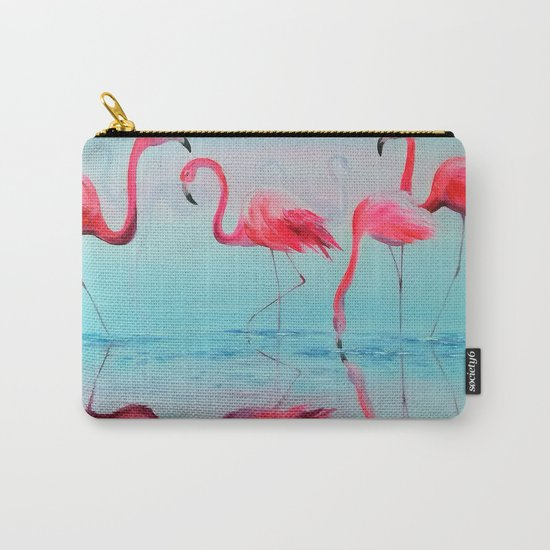 Flamingo at sunset Carry-All Pouch