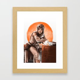 Wanna race? Framed Art Print