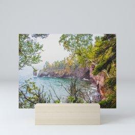 Sea Stack, Tettegouche State Park, Minnesota 3 Mini Art Print