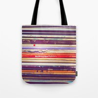 records Tote Bags featuring Grandpa's Records by Amy Hamilton