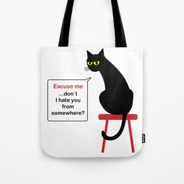 Hatful Cat Tote Bag