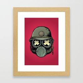 War Skull v2 Framed Art Print
