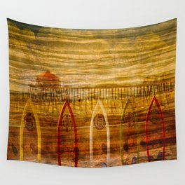 Pier through Shades Wall Tapestry