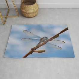 Abstract Dragonfly Rug