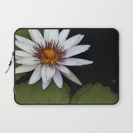 White Water Lily Laptop Sleeve