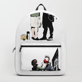 Banksy, Anarchist Punk And His Mother Artwork, Posters, Prints, Bags, Tshirts, Men, Women, Kids Backpack