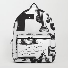 Born To Fish Forced To Work Fishing Boat Fisherman Backpack