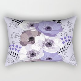 Anemones bouquet in blue Rectangular Pillow
