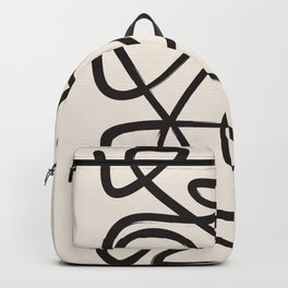 abstract line work Backpack