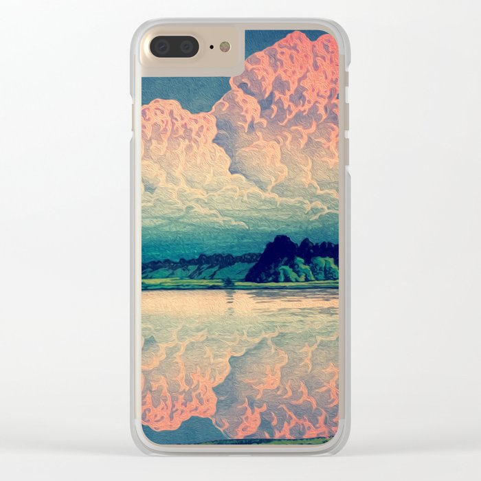 Admiring the Clouds in Kono Clear iPhone Case