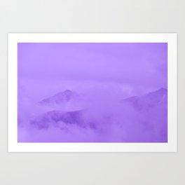 Lilac Fog Surrounding Anchorage Mountains Art Print
