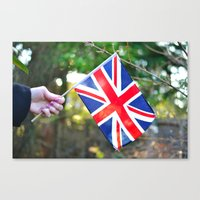 british flag Canvas Prints featuring British Flag by Blown A Wish Photography